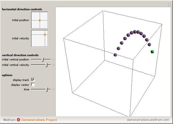 Popup2g 3d projectile motion ccuart Gallery