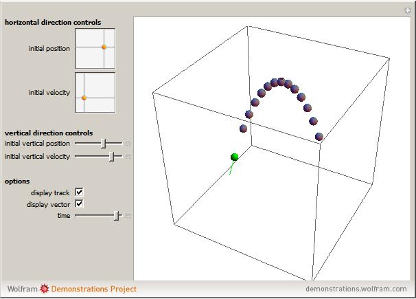3d projectile motion wolfram demonstrations project snapshots ccuart Image collections