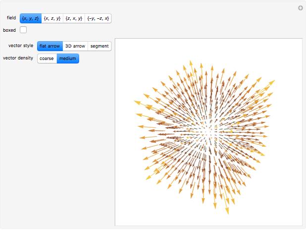 3D Vector Fields - Wolfram Demonstrations Project