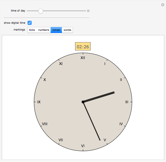 An Analog Clock - Wolfram Demonstrations Project