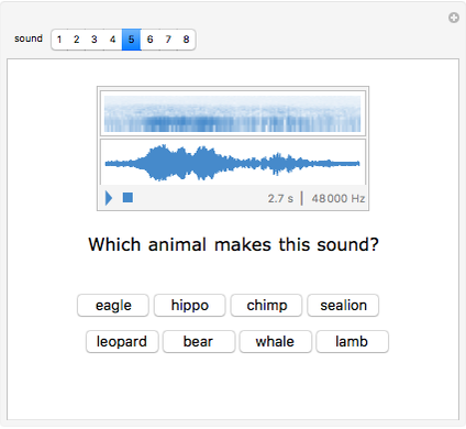Animal Sounds - Wolfram Demonstrations Project