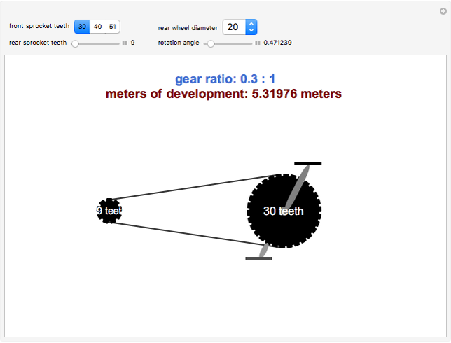 Bicycle Gear Ratios and Meters of Development - Wolfram