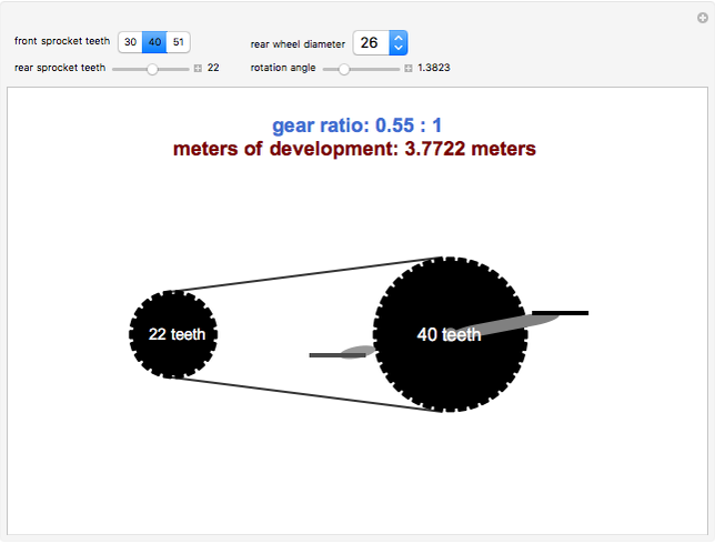 popup_2 bicycle gear ratios and meters of development wolfram