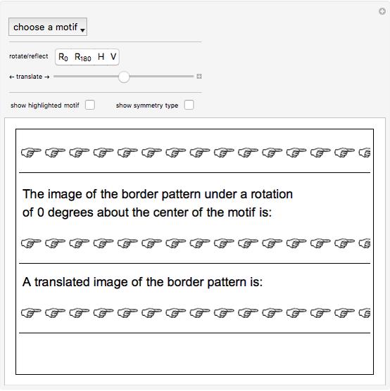 Border Patterns Wolfram Demonstrations Project
