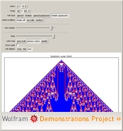 """Cellular Automaton Explorer"" from the Wolfram Demonstrations Project"