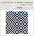 Coloring 2D Metallic-Mean Quasicrystal Tilings with a Mesh-Based Method