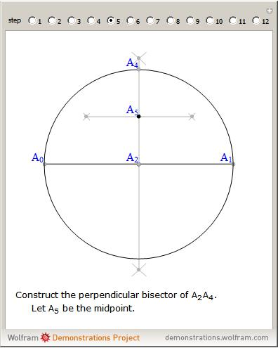 how to draw a regular pentagon with a compass
