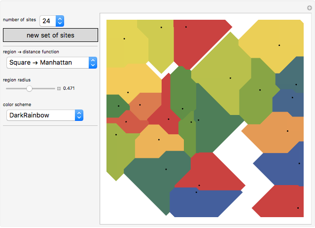 Constructing Voronoi Diagrams with Expanding Cells - Wolfram