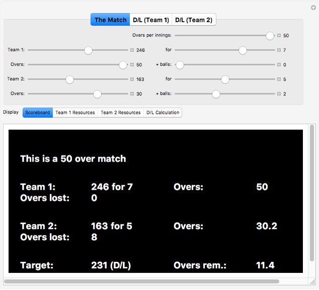 Deciding Rain-Affected Cricket Matches: The Duckworth-Lewis