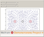 Wolframdemonstration: Electric Fields for Three Point Charges