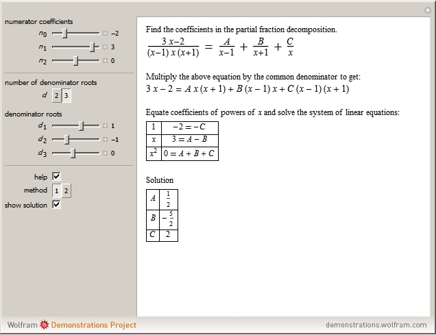 partial fraction Time-saving lesson video on partial fractions with clear explanations and tons of step-by-step examples start learning today.