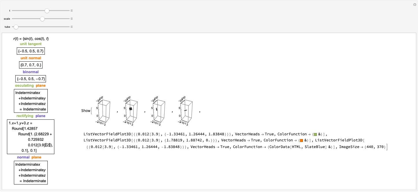 Frenet Frame - Wolfram Demonstrations Project