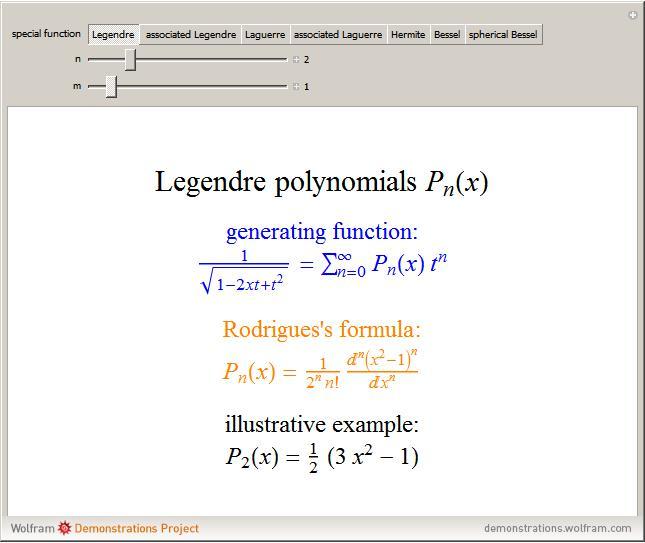 Legendre Polynomial -- from Wolfram MathWorld