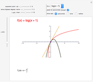 Truncation Error in Taylor Series - Wolfram Demonstrations Project