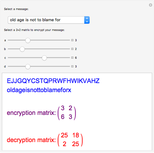 Hill Cipher Encryption and Decryption - Wolfram