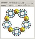 Inside a Ring of Ten Rhombic Hexecontahedra