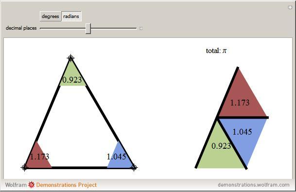 Interior Angles Of A Triangle