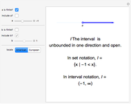 interval notation wolfram demonstrations project