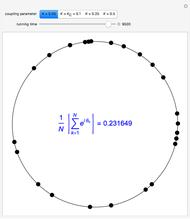 Kuramoto Model for Phase Locking of Coupled Oscillators