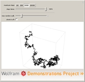 """Lattice Random Walk in 3D"" from the Wolfram Demonstrations Project"