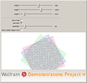 """Moiré Patterns"" from the Wolfram Demonstrations Project"