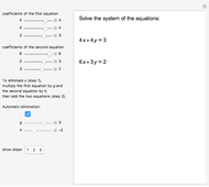 Solving a System of Two Linear Equations with Substitution