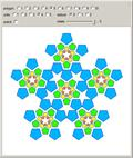 Patterns Based on Pentagonal Assemblies of Polygons