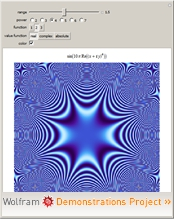 """Patterns from Math Rules Using Complex Numbers"" from the Wolfram Demonstrations Project"