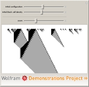 """Phase Transitions in Cellular Automata"" from the Wolfram Demonstrations Project"