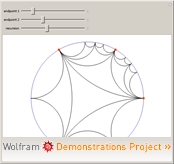 """Poincaré Hyperbolic Disk"" from the Wolfram Demonstrations Project"
