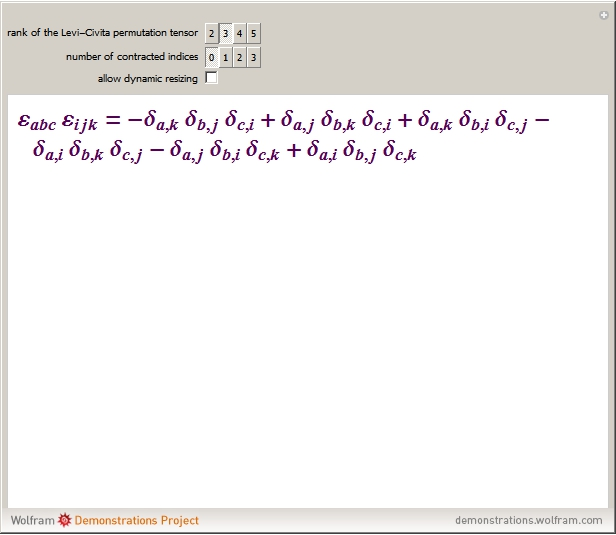 Product Of Two Levi Civita Tensors With Contractions Wolfram