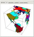 Projection of Earth on Polyhedra