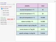Psychrometric Data Calculator In Si Units Wolfram Demonstrations