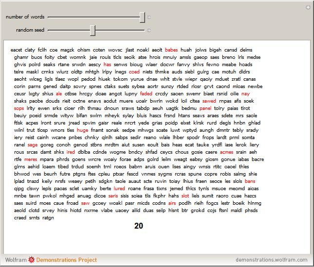 Random Letters Into Words Generator | butik.work
