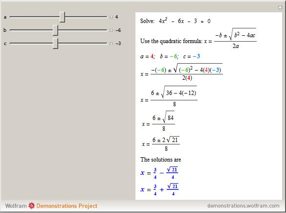 Solve Quadratic Equations With Integer Coefficients Wolfram