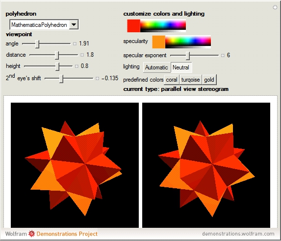 Stereogram -- from Wolfram MathWorld