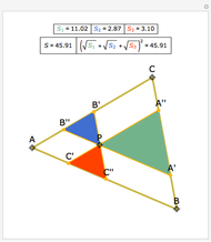 the product of the side lengths of a triangle wolfram