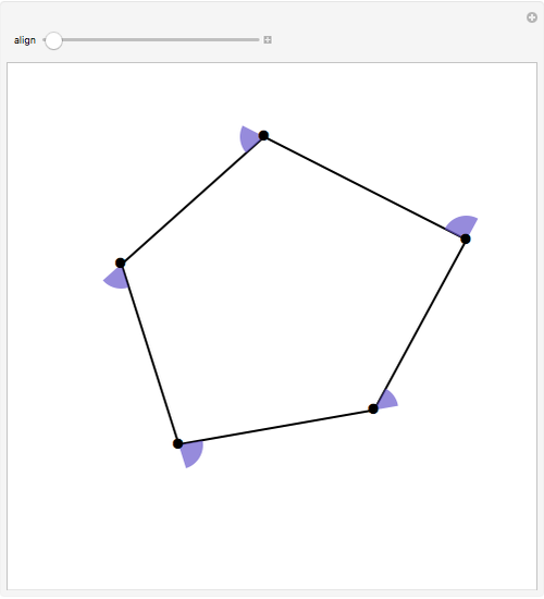 Sum Of Exterior Angles Of A Polygon Wolfram Demonstrations Project