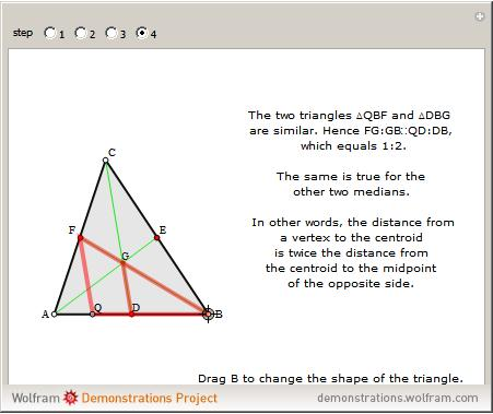 how to get the centroid of a triangle