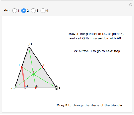 The Centroid Of A Triangle Divides Each Median In The Ratio 1 2