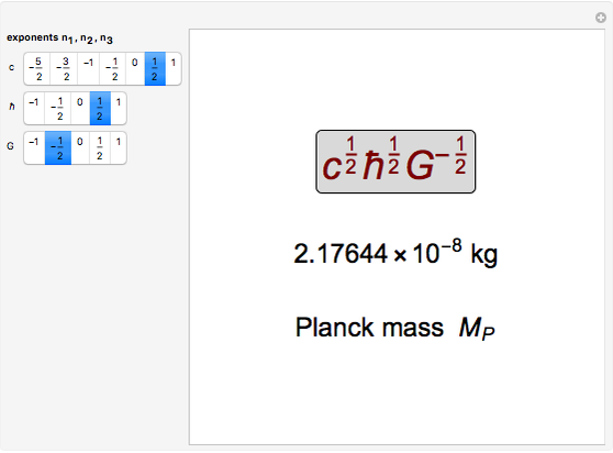 The Planck Scale - Wolfram Demonstrations Project