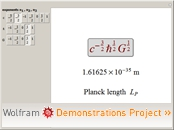 """The Planck Scale"" from the Wolfram Demonstrations Project"