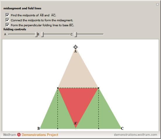 The Sum Of The Interior Angles Of A Triangle Equals 180 Degrees By Paper  Folding