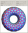 Torus Made from Coiling Triangles