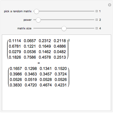 Transition Matrices of Markov Chains - Wolfram
